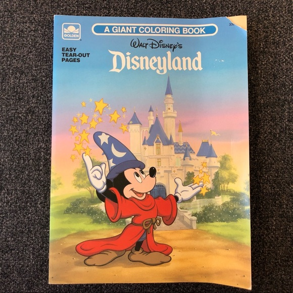 •1991 Disneyland A Giant Coloring Book•